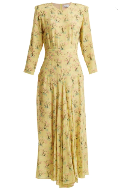 Kate wore this glorious yellow dress by British label Raey.