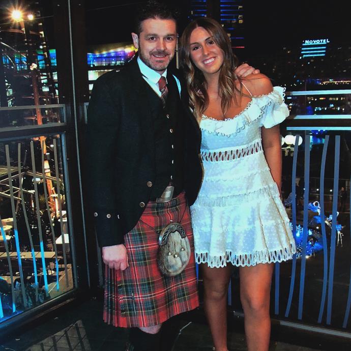 Jock and his older daughter.