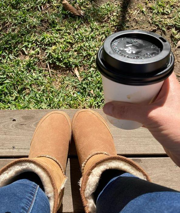 "*Home & Away* star Penny McNamee celebrated the day quite simply as a mum of two. ""✔️Sleep-in ✔️New ugg boots ✔️Coffee #happymum,"" she wrote."
