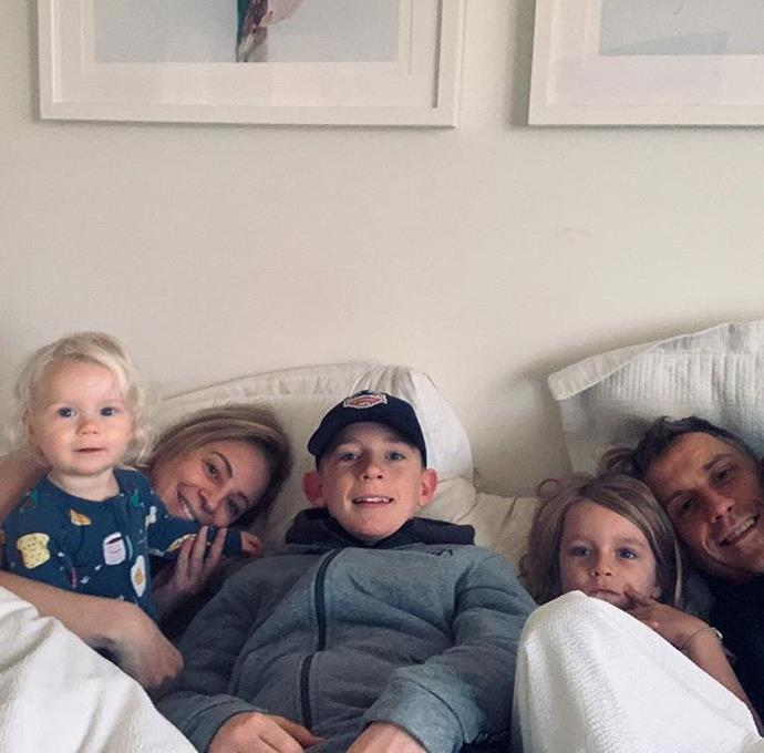 Her prides and joys - Carrie Bickmore posted an adorable family snap on the morning of Mother's Day with a simple heart emoji. Looks like she's feeling plenty of love today.