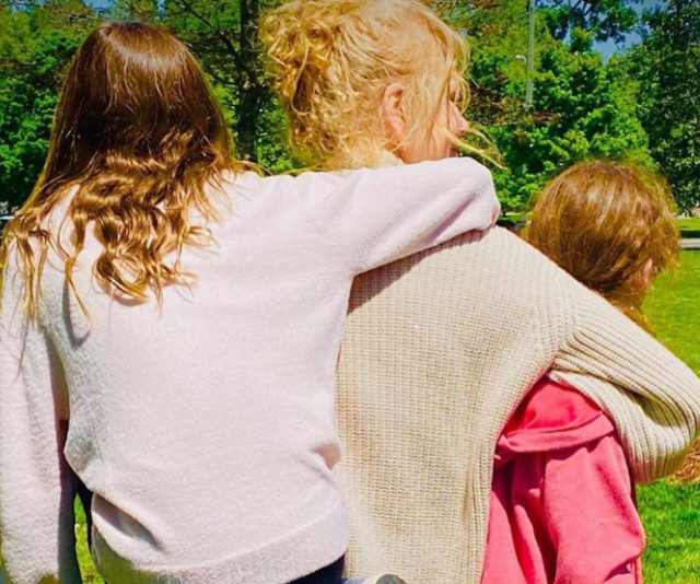 "After revealing her heartbreak about being away from her own mother on Mother's Day, Nicole Kidman shared this rare photo of her daughters Sunday,11, and Faith, nine. The actress, who is based in Nashville, [was unable to see her 80-year-old mum who lives in Sydney](https://www.nowtolove.com.au/celebrity/celeb-news/nicole-kidman-mothers-day-63881|target=""_blank"") due the travel restrictions put in place thanks to the COVID-19 crisis."
