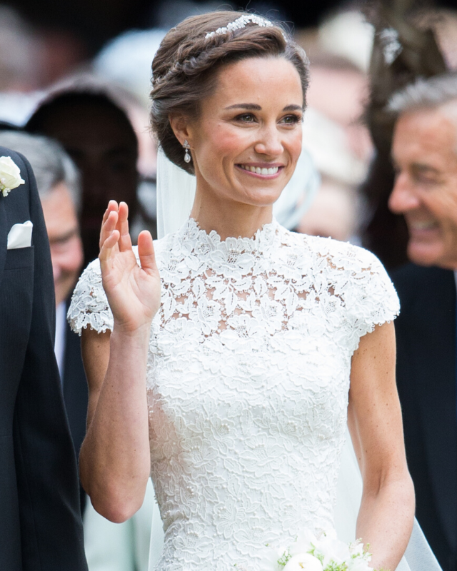 All her hard work paid off! Pippa's toned arms stole the show in her Giles Deacon wedding dress.