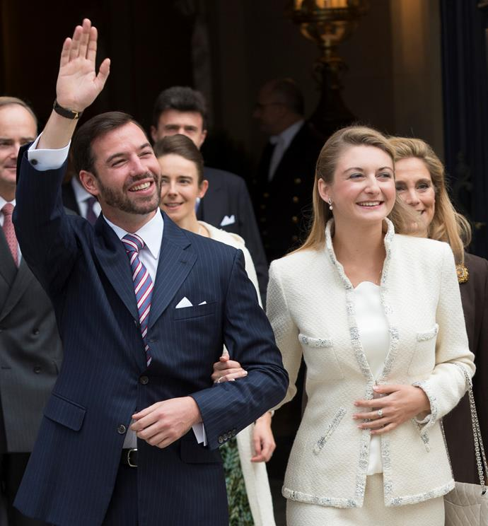 Crown Prince Guillaume and Princess Stephanie are first time parents.