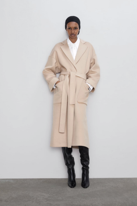"You can't beat a camel coat, and even better if it drapes like a real life blanket, while still oozing #fashun appeal. This Zara design is the ultimate example. $269, [buy it online here](https://www.zara.com/au/en/coat-with-patch-pockets-p07522249.html?v1=34196090&v2=1009503|target=""_blank""