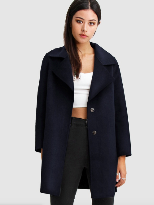 "If you're after something with a little structure, but still moulds to you like a well-loved dressing gown, this Belle & Bloom boyfriend-style blazer is a winner. $189.95, [buy it online via The Iconic here](https://www.theiconic.com.au/ex-boyfriend-wool-blend-oversized-coat-931503.html|target=""_blank""