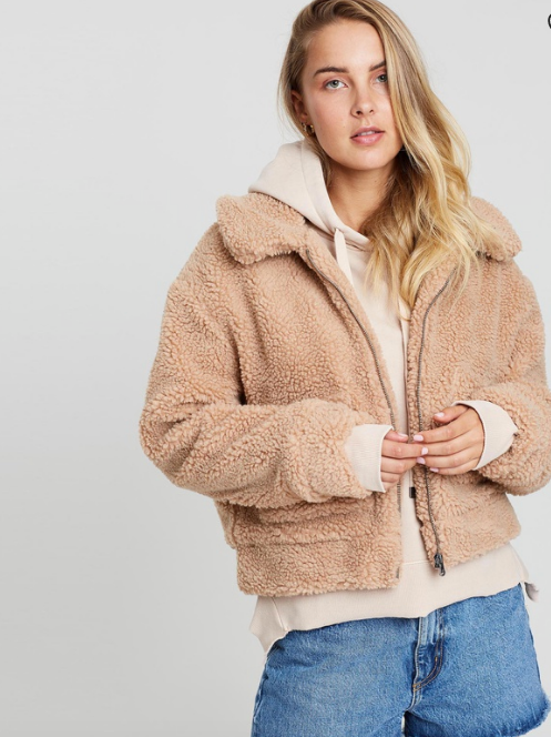 "Another day, another teddy. This uber cosy All About Eve style is like a warm hug just waiting to happen. $59.95, [buy it online via The Iconic here](https://www.theiconic.com.au/carey-jacket-820236.html|target=""_blank""