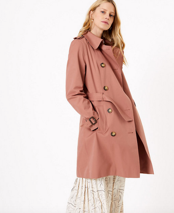 "It would be rude *not* to include a trench in any coat roundup - and this slightly lighter weigh Marks & Spencer style is perfect for those wanting an extra layer of warmth around the house and beyond. $119, [buy it online here](https://www.marksandspencer.com/au/double-breasted-trench-coat/p/P60370585.html|target=""_blank""