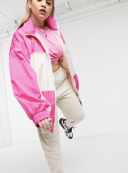 "In case you missed it, an 80s and 90s track and field resurgence is rife in the style sphere, and we're well and truly on board. Collusion Plus have given us the ultimate gift with this bright, bold, and might we add *cosy* outerwear style. $70, [buy it online via ASOS here](https://www.asos.com/au/collusion/collusion-plus-track-jacket/prd/14267099?clr=&colourWayId=16603922|target=""_blank""