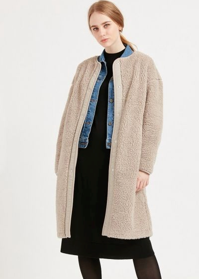 "A longline coat goes a long way, particularly when it looks as comfy as this Uniqlo design. $59.90, [buy it online here](https://www.uniqlo.com/au/store/women-pile-lined-fleece-collarless-coat-4207140011.html#colorSelect|target=""_blank""