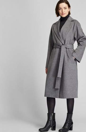 "Dressing gown or jacket? Whichever it is, we're sold. This Uniqlo style is chic, cheap and cosy - three very important C's. $129.90, [buy it online here](https://www.uniqlo.com/au/store/women-wool-blend-wrap-coat-4202320001.html|target=""_blank""