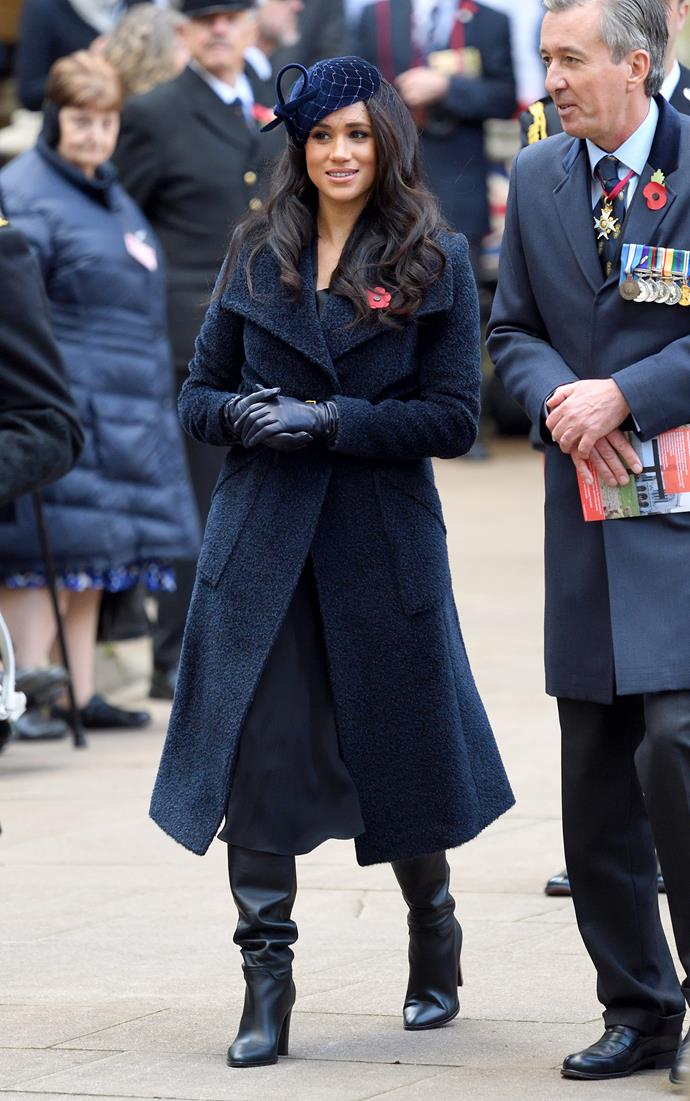Meghan Markle knows a thing or two about cosy winter coats...