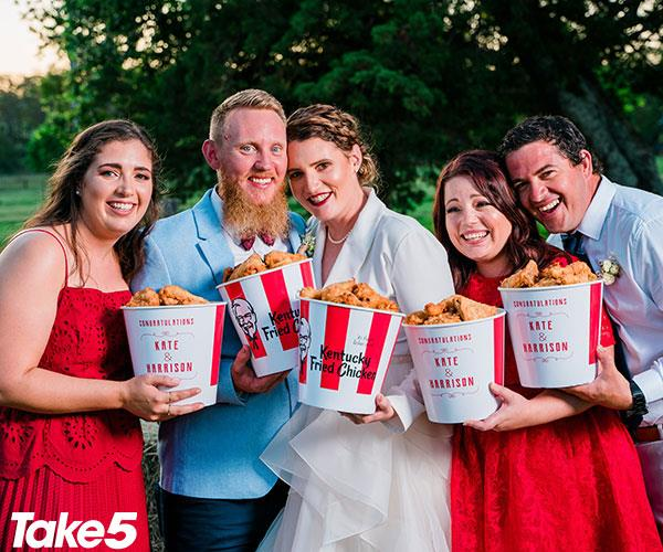 Harry and I had buckets of fun with our bridal party!