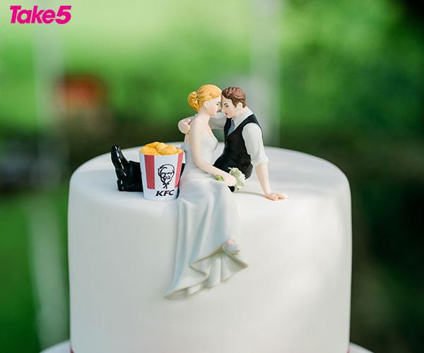 Our memorable wedding cake.
