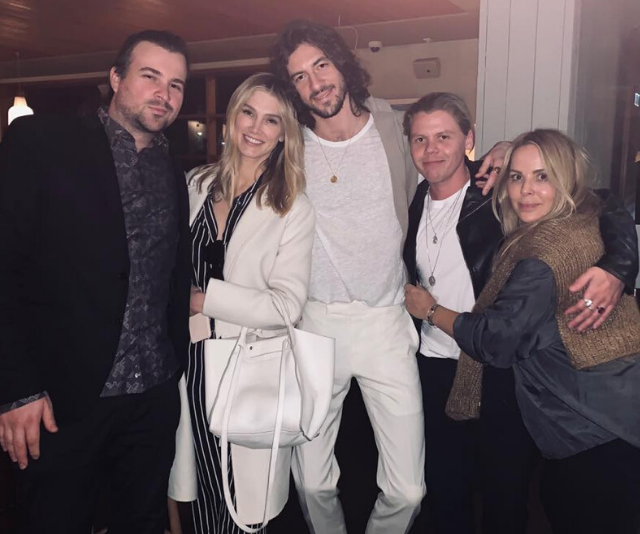 Matthew is a musician and regularly performs with hit Aussie singer Conrad Sewell (pictured second from right).