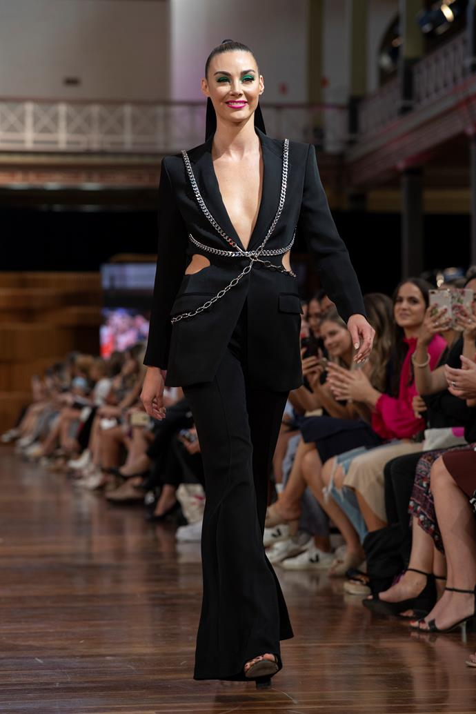 Brooke walking the runway at VAMFF in Melbourne in March.
