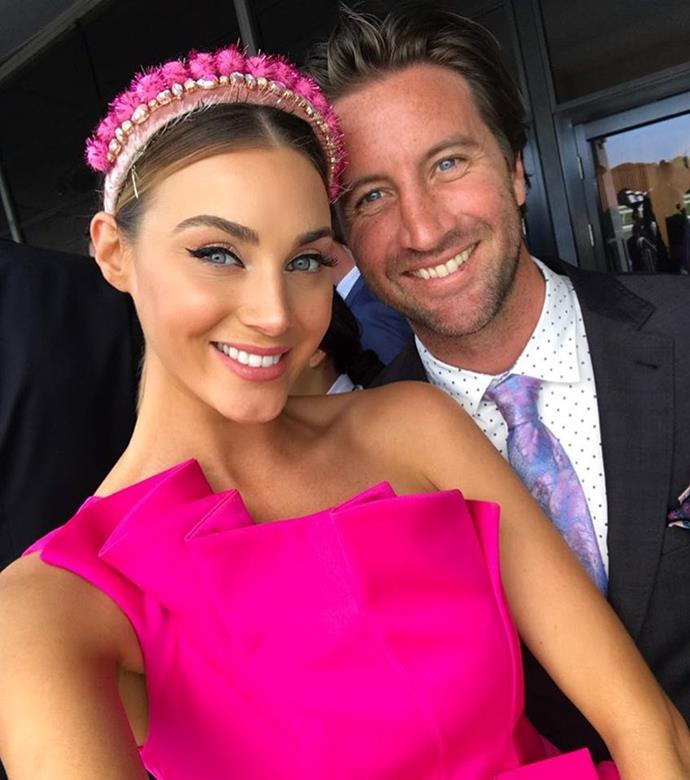 Brooke and her ex-boyfriend David Higgs pictured at the races together in April 2019.