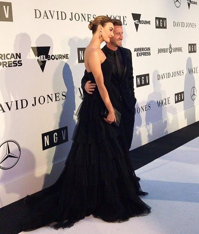 The former couple walking the red carpet in January 2019.