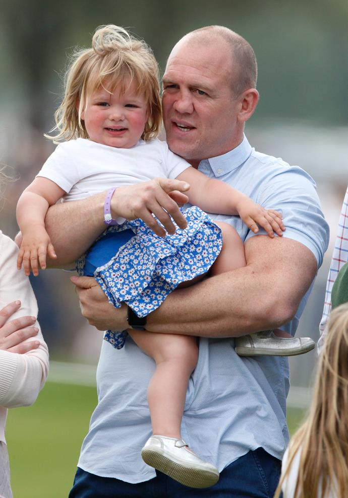 Mia and her Dad were all eyes and ears at the Badminton Horse Trials in 2016.
