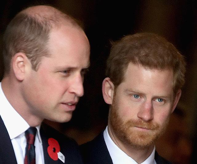 William and Harry are reportedly chatting on the phone.