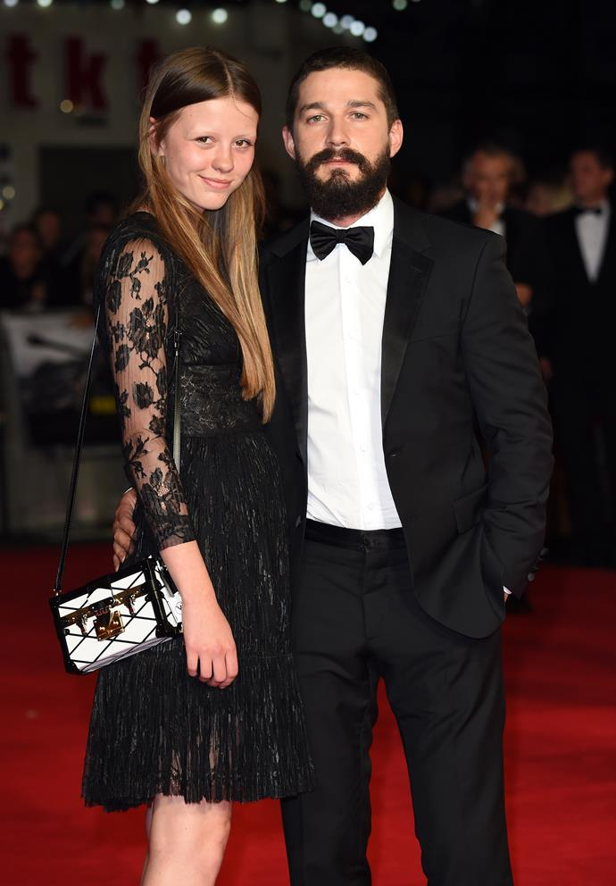 **SHIA LABEOUF AND MIA GOTH** <br><br> *Transformers* star Shia and his ex-wife Mia filed for divorce in 2018, but it looks like life in quarantine has helped the pair reignite their love!  <br><br> In March they were spotted kissing on a park bench with their pet dog and have since been photographed running and cycling together in LA. Looks like isolation isn't so bad after all!
