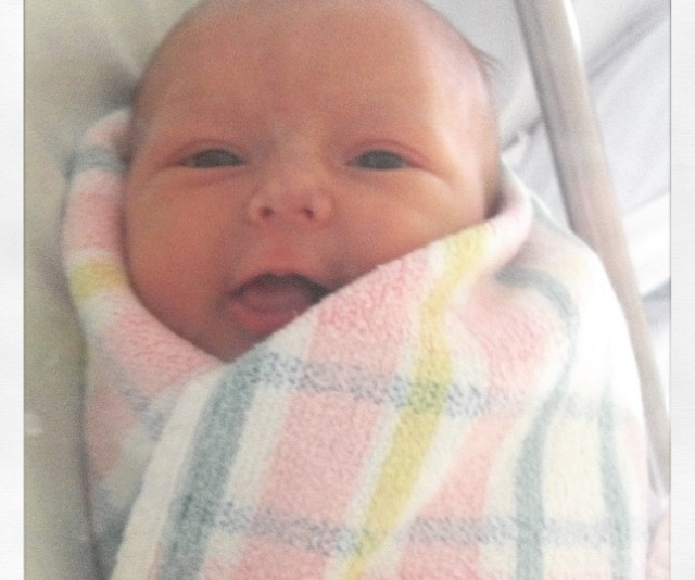 Not long after, Sonia shared this first snap of the precious bub.