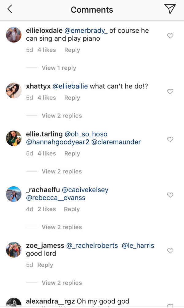When the clip is so good you tag not one, but three girlfriends in the comments.