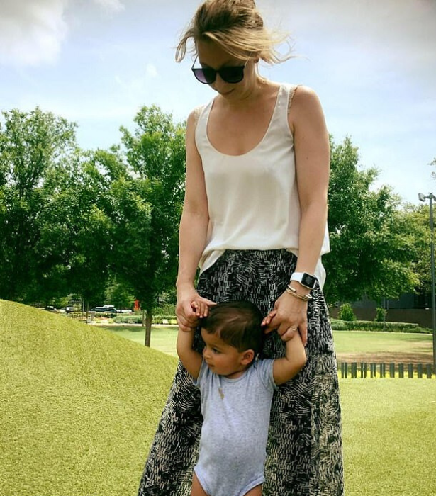 Maria and her son Maxim.