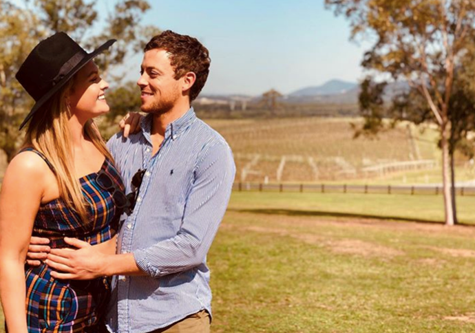 Sophie and her partner and co-star Dean flew home to Queensland in the nick of time.