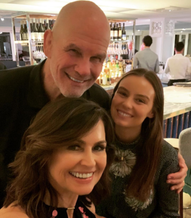 Lisa with husband Pete and daughter Billi.