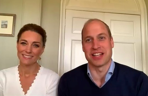 Duchess Catherine and Prince William took part in a video call to celebrate some special news.