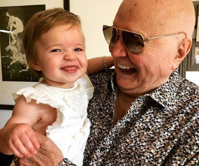 Nothing beats cuddles with grandpa and Perla seems to agree.