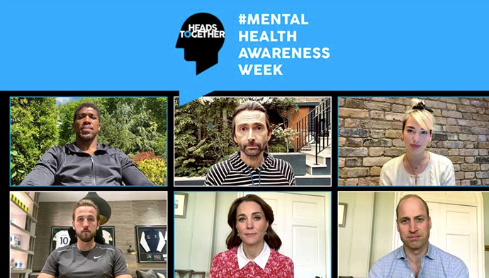 Kate and Wills were joined by a host of British celebs to mark Mental Health Awareness Week.