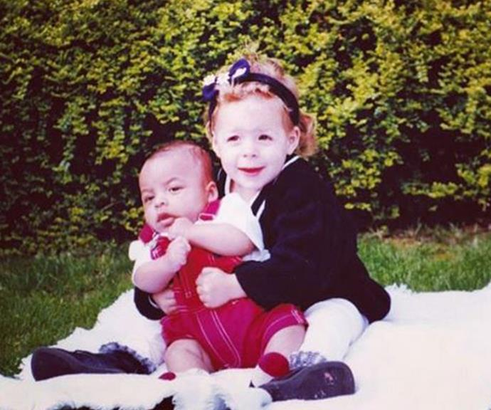 Connor and Bella as young children.