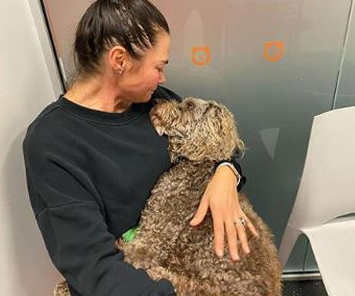 Fitzy's wife BJ says goodbye to Cooper.