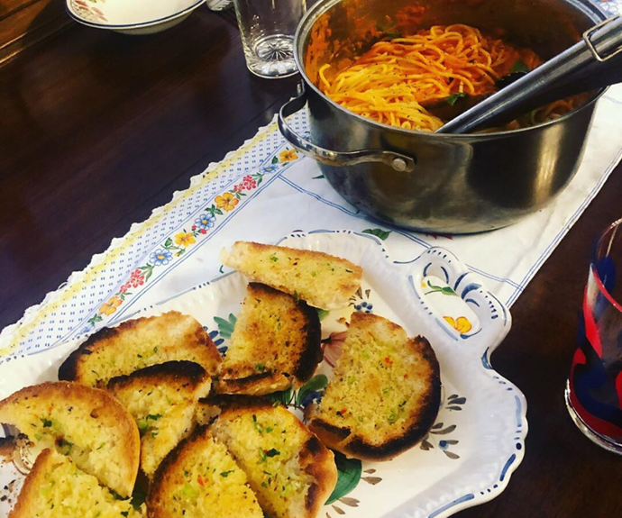 A diet of spaghetti and garlic bread? We'll have what she's having.