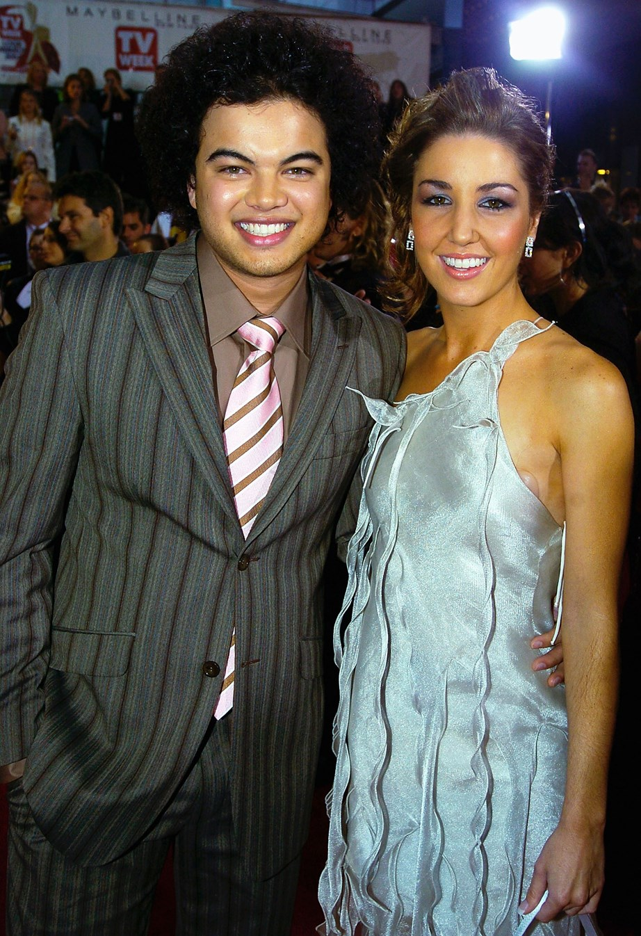 A baby-faced Guy and his wife,Jules, walking the red carpet at the 2004 Logie Awards, right after he rose to fame.