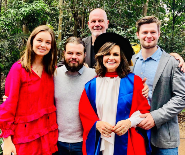 Jake wasn't the only member of the family to get a graduation photo! Lisa received her Honorary Doctor of Letters from the University of Wollongong.
