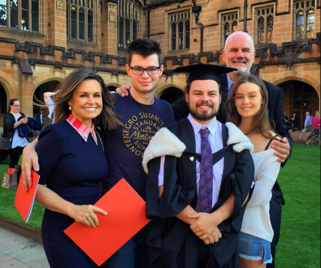 """""""Bursting with pride today (and a little bit teary) as our eldest son became the first member on my side of the family to ever attend and graduate from university. The best Mother's Day present ever..."""" Lisa wrote in celebration of Jake's graduation."""