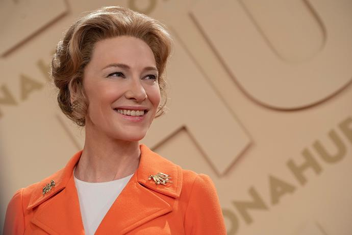 Cate Blanchett plays Phyllis in *Mrs America* with her usual acting prowess.