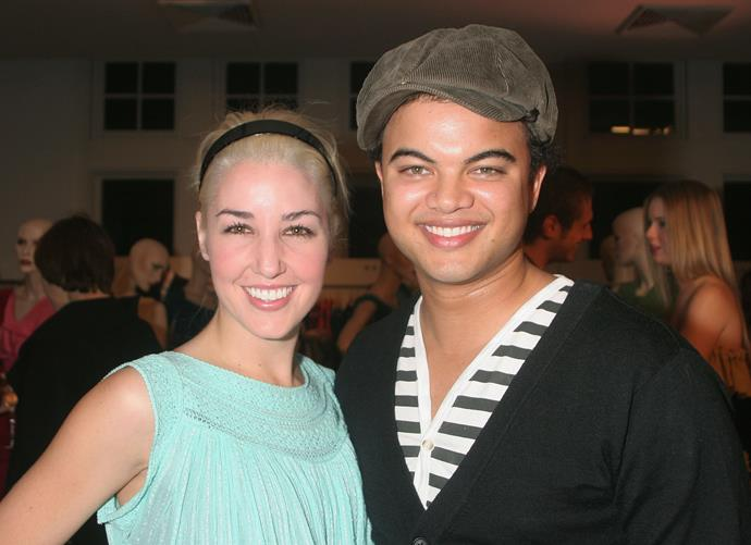 Rocking rocking the key fashion trends of 2006 - a thick black headband and a newsboy cap - at a Myer fashion show.
