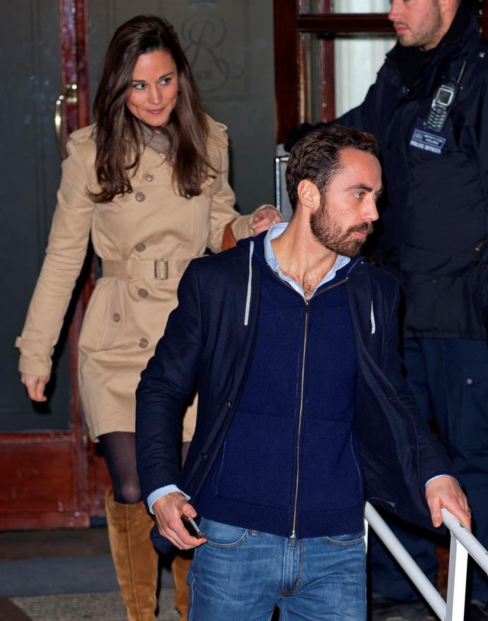 Of course, the Prince Harry match up was a *little* far-fetched. Instead, in 2012, Pippa was linked back to James Matthews, who was already good pals with her younger brother James Middleton (pictured). It's understood they went on a series of dates together.