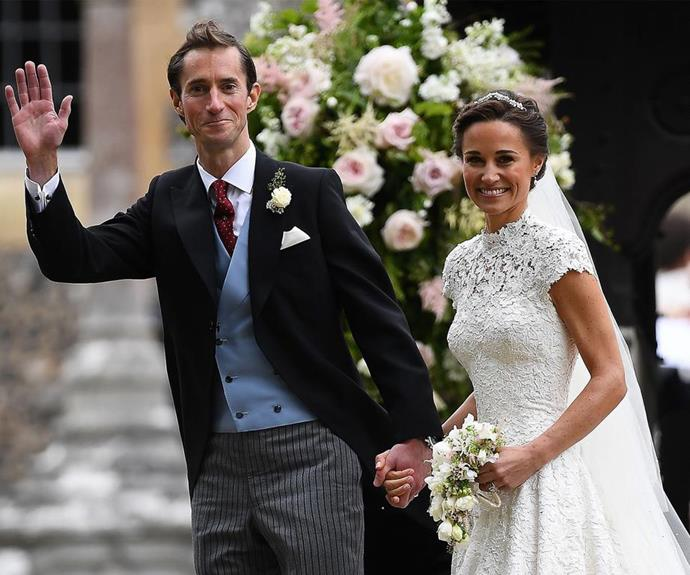 """A full 10 years after their first meeting, the couple made things *properly* official on May 20, 2017 in [a glorious wedding ceremony](https://www.nowtolove.com.au/royals/british-royal-family/pippa-middleton-marries-james-matthews-37442