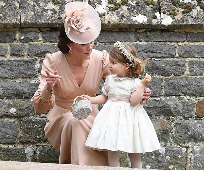 Of course, the ceremony featured some very familiar faces, with Duchess Catherine returning the favour for her sister six years on from her own wedding in a beautiful blush ensemble. A young Princess Charlotte also stole hearts as a bridesmaid in the official party.
