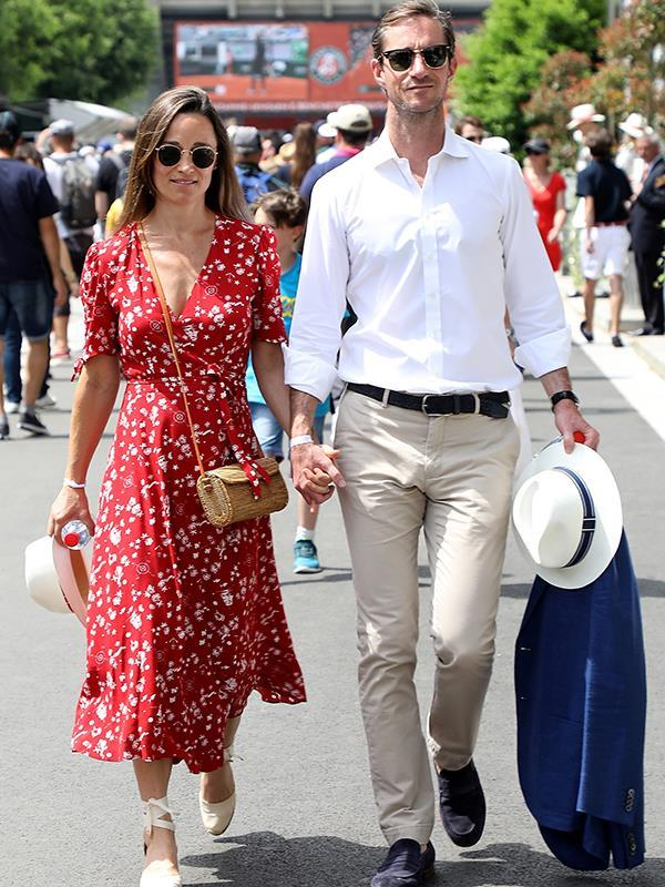 """First comes love, then comes marriage, then comes ... the [baby announcement](https://www.nowtolove.com.au/royals/british-royal-family/pippa-middleton-baby-birth-lindo-51839