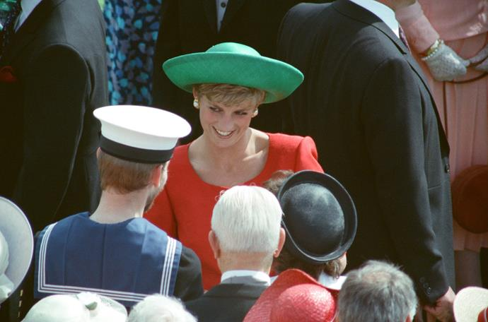 Our colour blocking queen, Princess Diana went for a bright and bold spectrum as she attended the annual event in 1991.