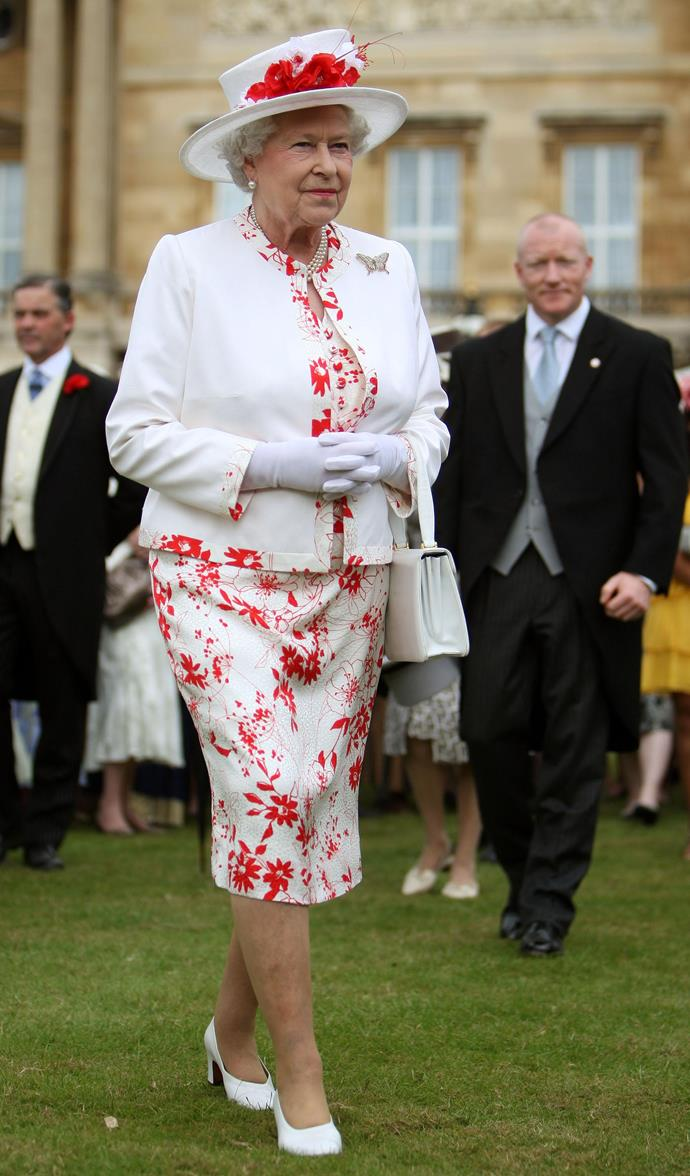 """Of course, we'd expect the [guest of honour](https://www.nowtolove.com.au/royals/british-royal-family/queen-elizabeth-old-photo-56091