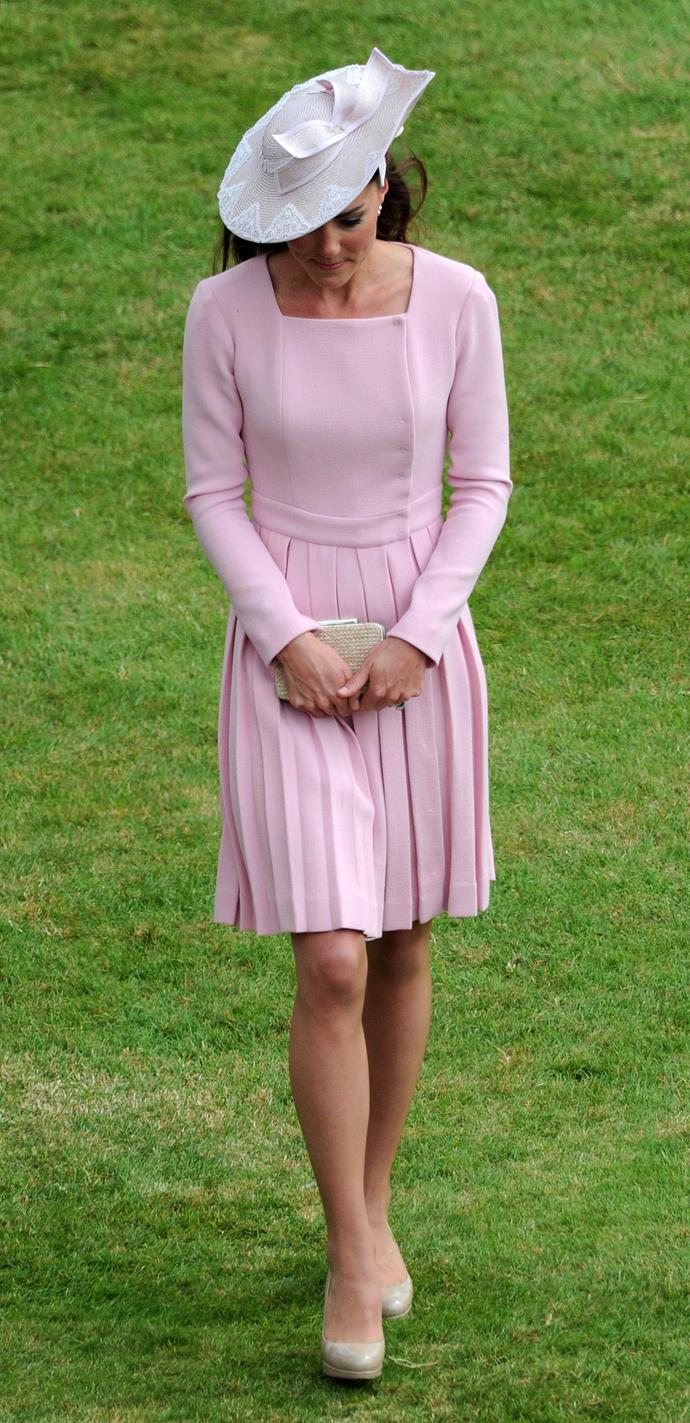 The newlywed Duchess was glowing for the classy garden soiree.
