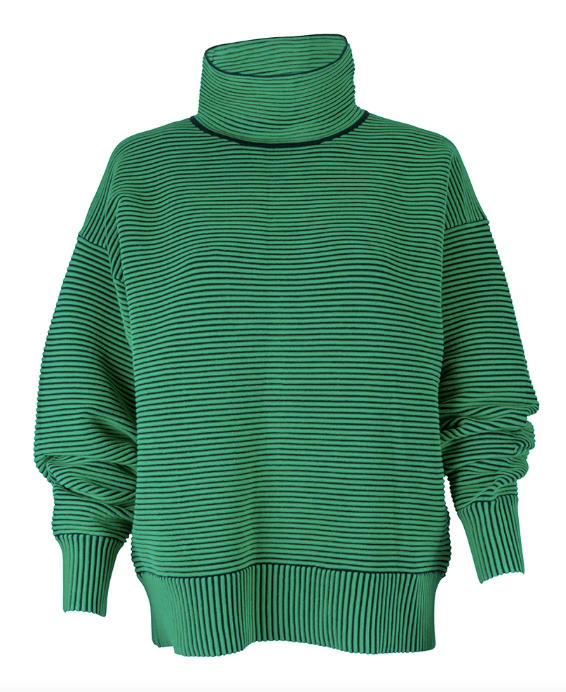 "Starting with the brand itself, this Nagnata organic rib sweater is cosy, comfortable *and* chic. It's a little on the pricier side, but if you're in a position to splurge, we reckon this is worth it. $385, [buy it online here](https://nagnata.com/products/rib-sweater-tropicgreen-black?_pos=9&_sid=83760ecad&_ss=r|target=""_blank""