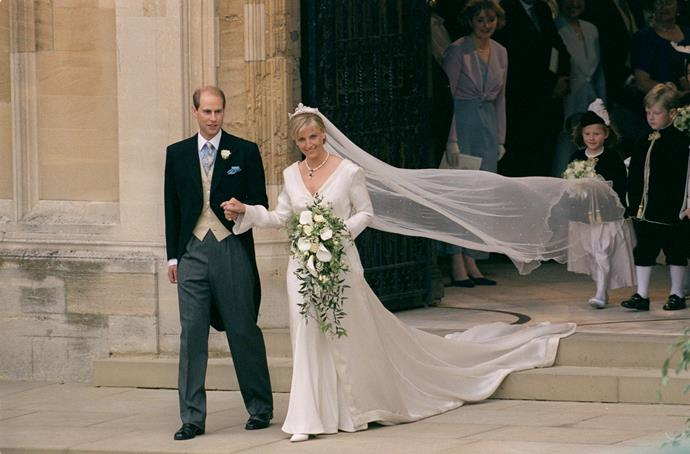 Right from the start, Sophie was everything we know to be royal. Her stunning wedding to Edward in 1999 set the precedent for what was to come...