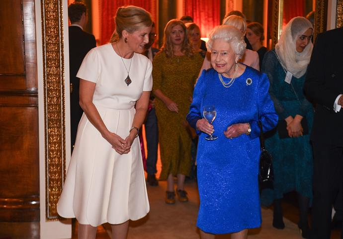Ever the Queen's right-hand-woman, Sophie was there to celebrate the work of the Monarch on behalf of the Elizabeth Diamond Jubilee Trust at Buckingham Palace in 2019.